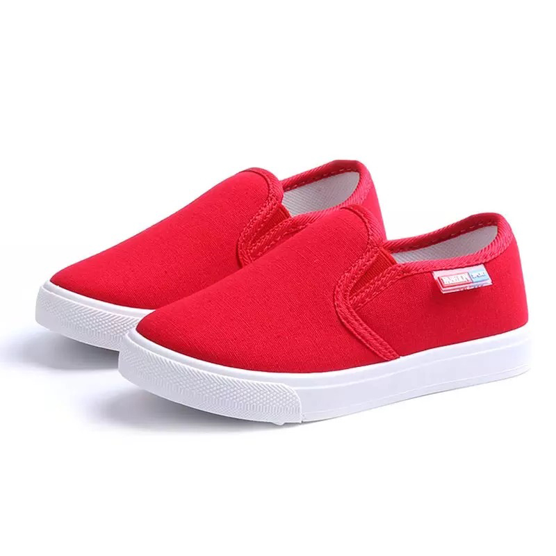 Mumoresip 2019 Spring Autumn Kids Shoes Boys Fashion Sneakers Children's Casual Canvas Shoes Size 27-38 Slip-ons Flat Loafers