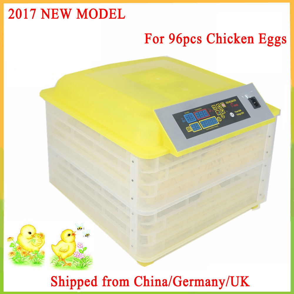 96 Digital Chicken Incubator Egg Turning Brooder Hatcher Temperature Control Duck Bird Tray Automatic incubadora new design digital temperature incubator pet supply duck hatcher household chicken egg incubator