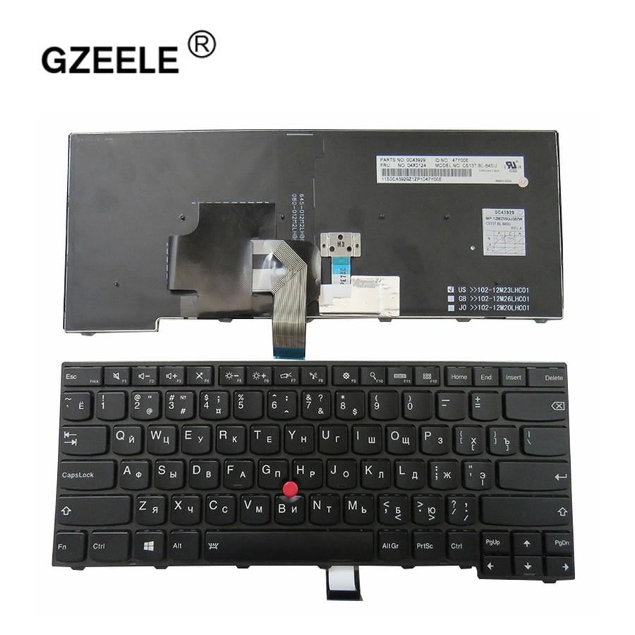 GZEELE New For Lenovo for ThinkPad T440S T440P E431 T431S E440 L440 T450 Russian RU Laptop