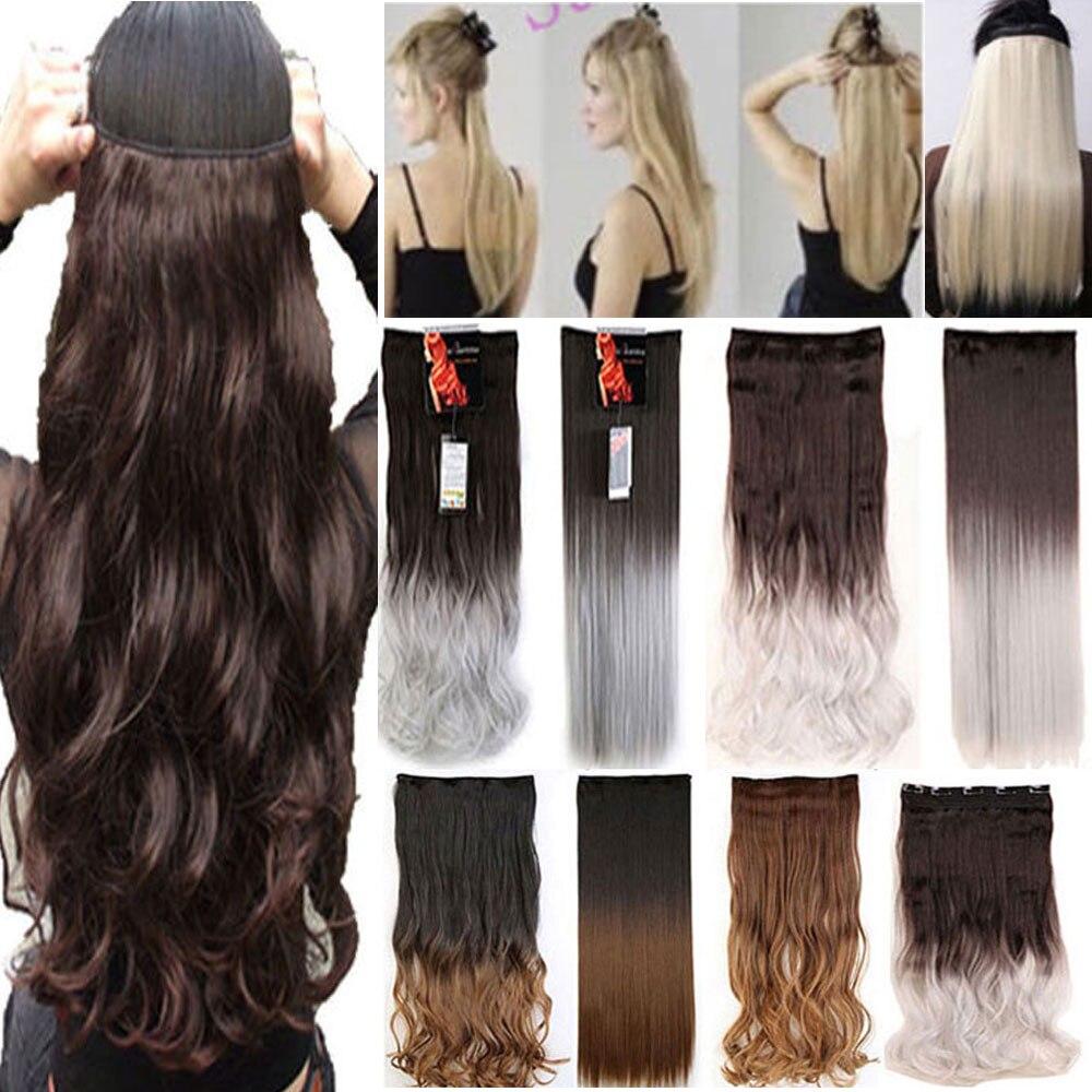 26 Quot 140 145g Women Hair Extensions Black Brown Blonde