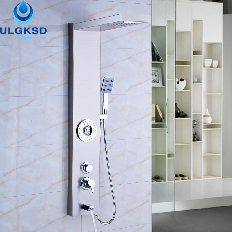 ulgksd wholesale and retail shower column jets tub bathroom waterfall rain with massage shower panel tub - Jetted Tubs