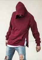 2018SS Best Version kanye west Big pocket side zipped men pullover hoodies hip hop Justin bieber Casual Sweatshirts M XL 2 color