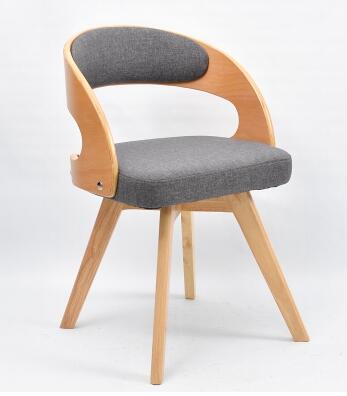 Real wood cloth art dining chair. Books and chairs. Back chairs for home leisure chairs..010 stadium chairs