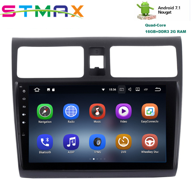 JSTMAX Android 7 1 Quad Core 10 2 Car GPS Player Navi for Suzuki Swift 2005