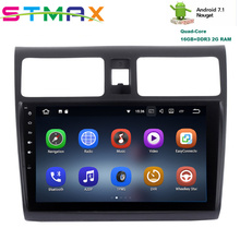 JSTMAX Android 7.1 Quad Core 10.2″ Car GPS Player Navi for Suzuki Swift 2005-2010 with 2G+16G No DVD Car Radio Multimedia HDMI