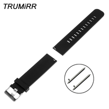 20mm 22mm Silicone Rubber Watchband + Quick Release Pins for Diesel Men Women