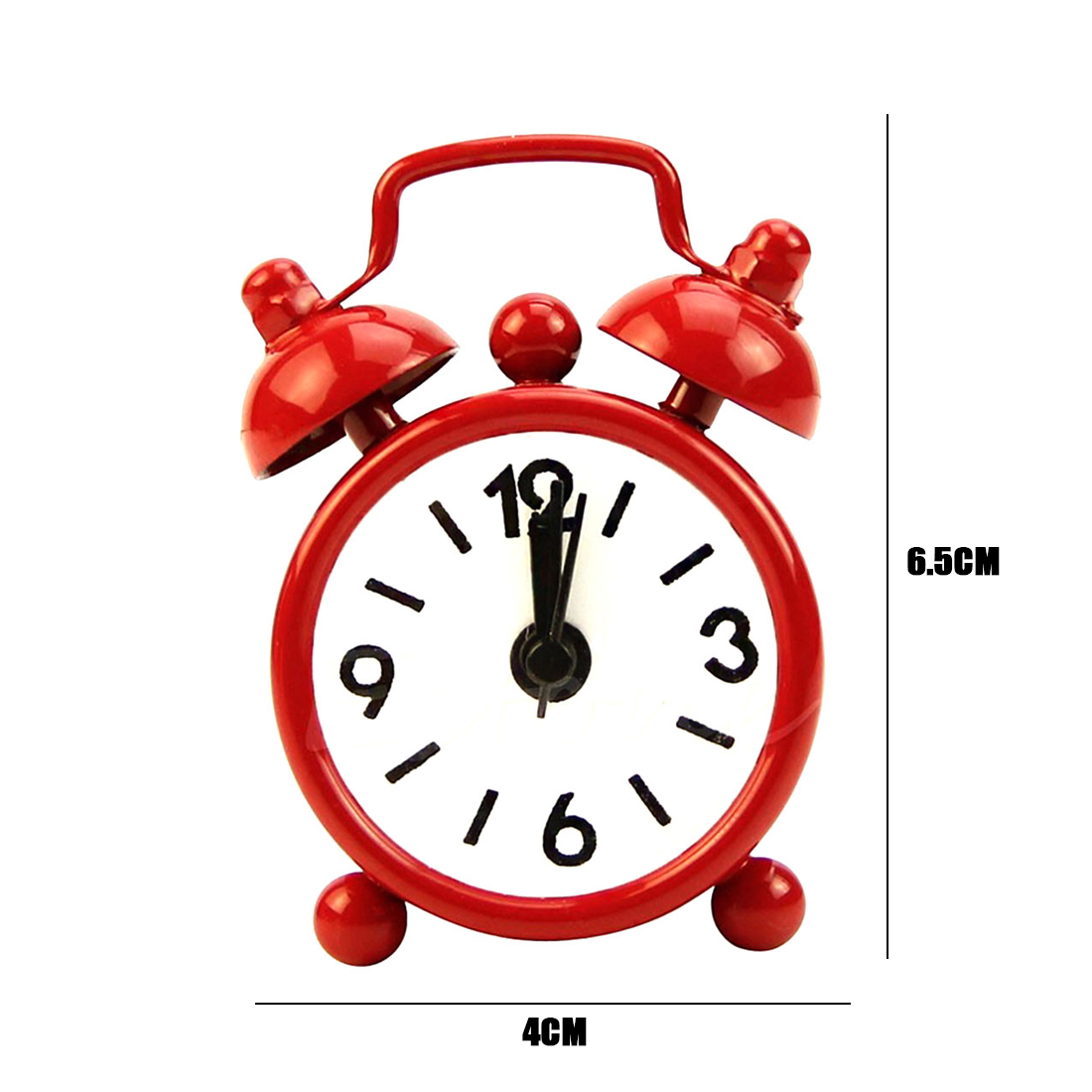 US $2 03 OFF Colorful Retro Portable Cute Mini Cartoon Alarm Clock Round Number Double Bell Desk Table Digital Clock Home Decoration Alarm