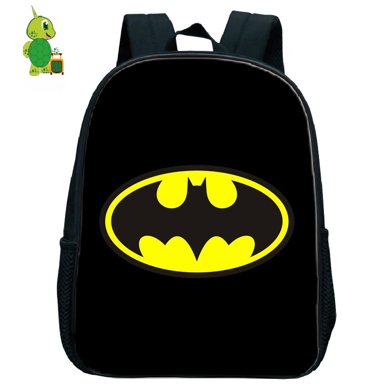 Superhero Bagpack Batman Bruce Backpacks Children School Bags Toddler Boys Girls Primary Kindergarten Backpack Kids Small Bags