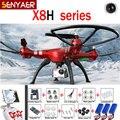 Syma x8hg x8hw x8hc 2.4g 4ch 6 eixo rc drones com 8mp grande Angular Câmera HD RC Helicópteros RTF Quadcopter Dron Altitude Hold Mod