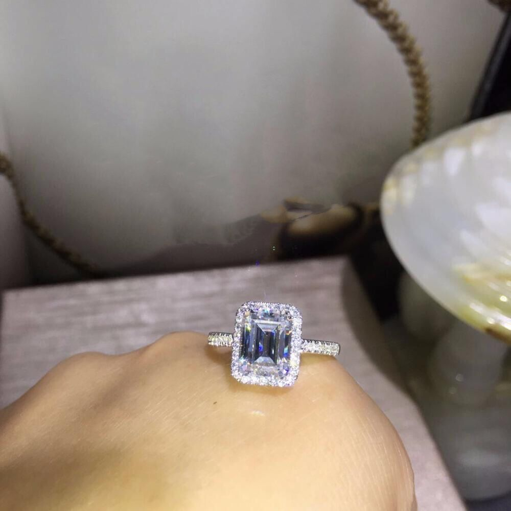 TR012  925 sterling silver 3 Carat nscd Simulated Gem Engagement  Wedding  RingTR012  925 sterling silver 3 Carat nscd Simulated Gem Engagement  Wedding  Ring
