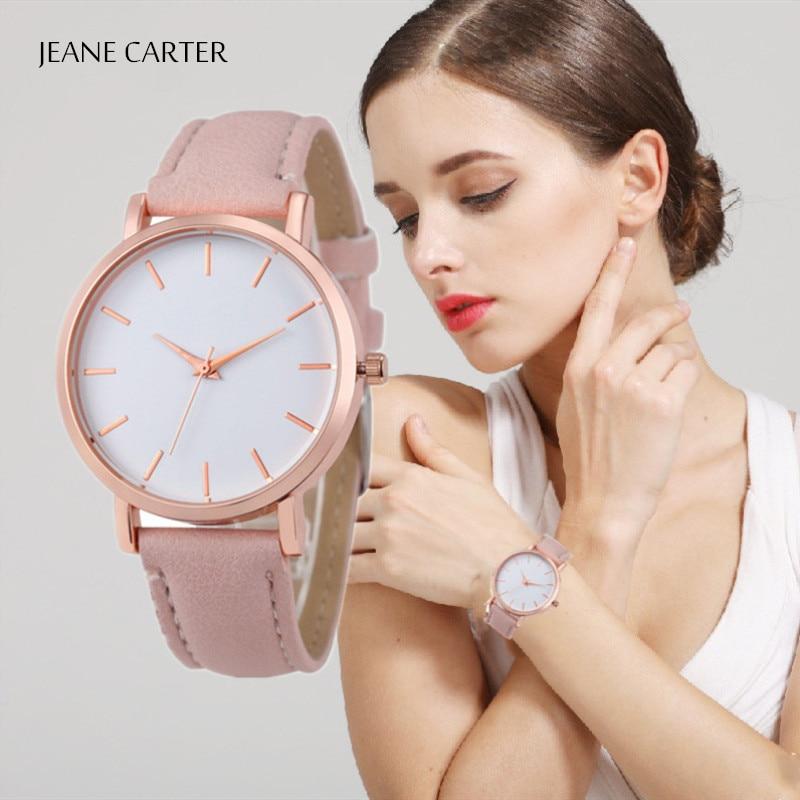 Dropshipping Reloj Mujer Cheap Fashion Women Watches Casual Simple Leather Female Quartz Wrist Watch Women Clock Bayan Kol Saati
