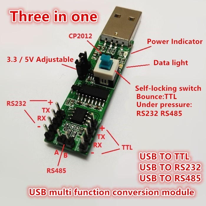 rs 485 wire diagram diy three in one serial port module usb to rs232 ttl rs485  diy three in one serial port module usb to rs232 ttl rs485