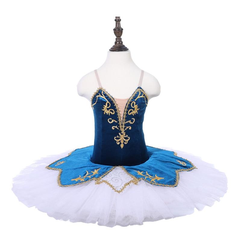 7fddacfabfb3 Cheaper Price Tulle black white Classical Ballet Dance Costume Pancake Tutu  Dress Blue Danube Raymonda Corsaire