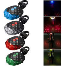 Bicycle Cycling Rear Tail Light 2 Laser Beam 5 LED Mountain Bicycle Safety Warning Lamp Waterproof Tool-Free Installation