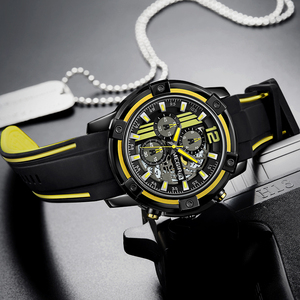 Image 2 - Newest MEGIR Creative Big Dial Chronograph Mens Sports Watches Military Quartz Watch Men Clock Relogio Masculino Reloj Hombre