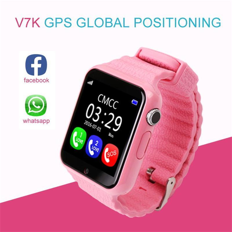 V7K GPS Bluetooth montre intelligente avec caméra pour enfants enfants IOS Android Support de téléphone SIM/TF appel à cadran et Message poussoir appel SOS