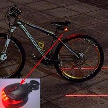 Лазеры задние предупреждение задний mtb light фонарь ночь горный велосипед безопасности
