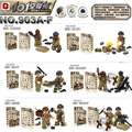 Segunda Guerra mundial 6 Unids/lote mini Biochemica Zombie figuras con Armas de Guerra Del Ejército de EE.UU. Soldado Militar Ladrillo D903 Compatible Niños juguetes