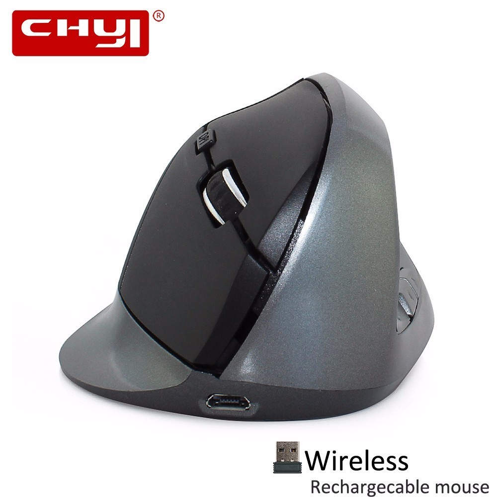 все цены на CHYI Ergonomic Vertical Mouse Wireless Rechargeable 6 Buttons Computer Gaming Mice 1600DPI USB Optical Mause Gamer For PC Laptop
