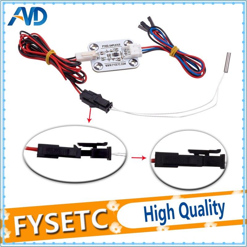 Upgrade V6 PT100 Amplifier Board + PT100 Temperature Sensor + Cable Kit For V6 Hot End Reprap 3D Printer Parts