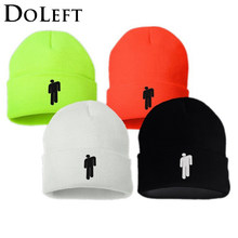 2019 Billie Eilish Beanie Knitted Hats Unisex Solid Hip-hop Skullies Knitted Winter Hat 12 Colours Outdoor Casual Sport Cap(China)