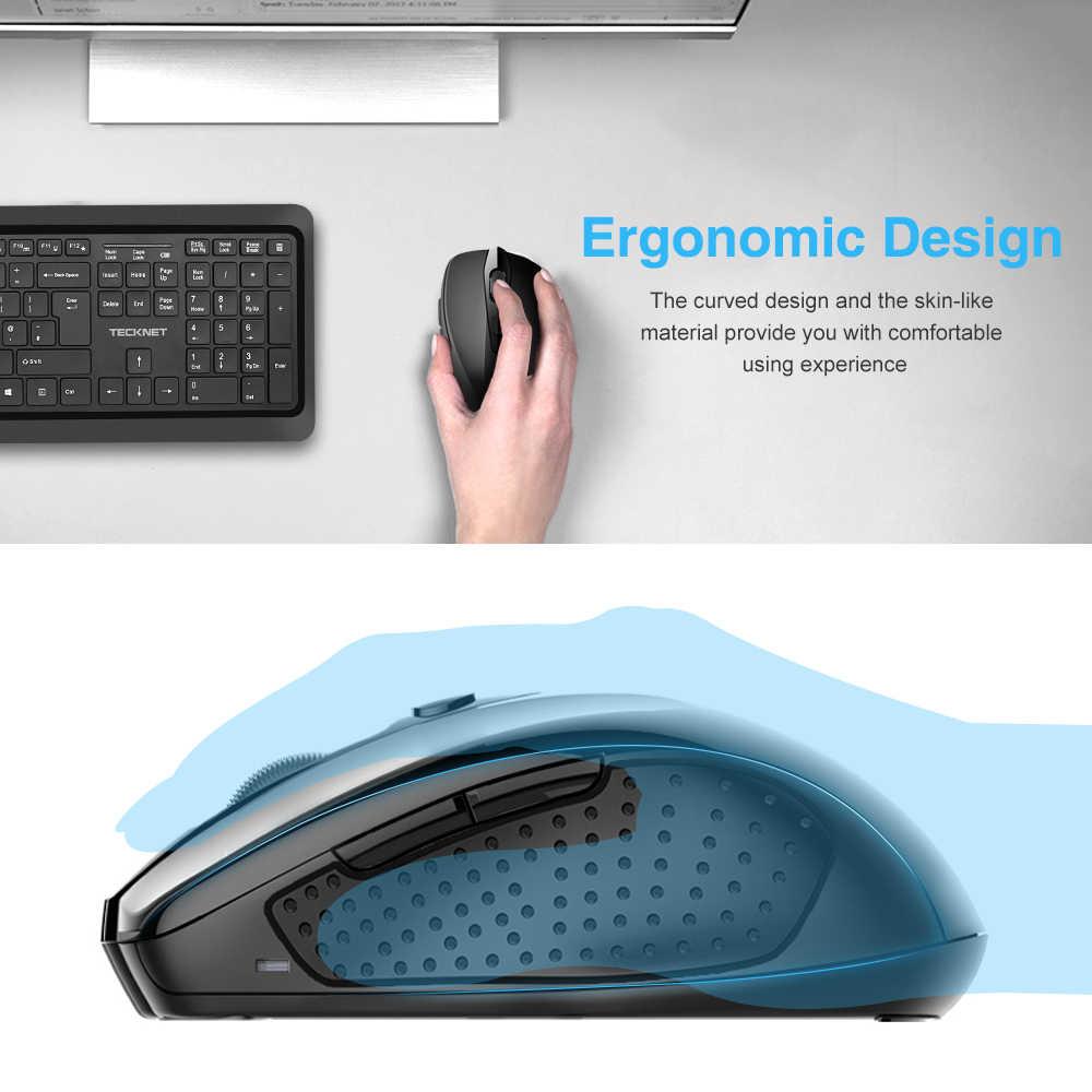 TeckNet マウスワイヤレス USB 2600 Dpi 調整可能な USB レシーバー光コンピュータマウス 2.4GHz 人間工学マウスノート Pc 用マウス
