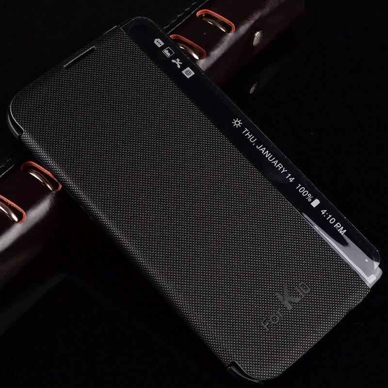 Para lg k10 case case de cuero del teléfono inteligente para lg k10 lte k420n k4