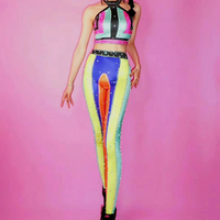 Customize Sexy Dj Singer Stage Leotard Clothes Club Pole Dancing Party Clothing Jazz Dance Costume Performance BodysuiWear DJ120