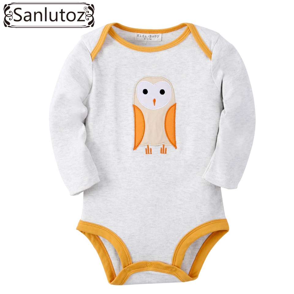 Sanlutoz Winter Baby Clothing Infant Newborn Baby Rompers Owl Pattern for Girls Boys Baby Clothes Long Sleeve Jumpsuits baby clothes newborn boys and girls jumpsuits long sleeve 100%cotton solid turn down baby rompers infant baby clothing product