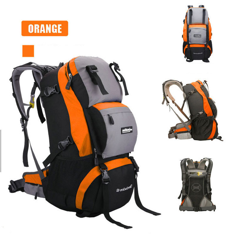 40L Waterproof Nylon Women&Men Travel Hiking Backpack Camping Climbing Rucksack Mountaineering Hiking Cycling Outdoor Sports Bag 40l outdoor hiking backpack 2l personal waist bag for travel climbing camping