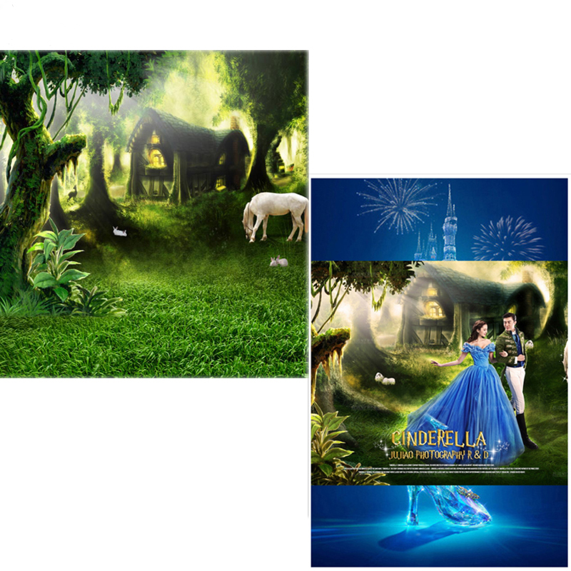 MEHOFOTO Vinyl Photography Backdrops Fairy Tale Forest New Fabric Flannel Photo Background Forest For photo studio CM6746 vinyl photography background fairy tale