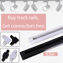 2pcs 4pcs Led Track Lights Spot Led Rail Connector Lighting fixtures 2-wire Straight/Corner Rail for LED track Lamp(China)
