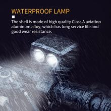 LED Bicycle Headlights USB Rechargeable 1200mAh T6 Lights IPX5 Waterproof Charging Lighting Accessories