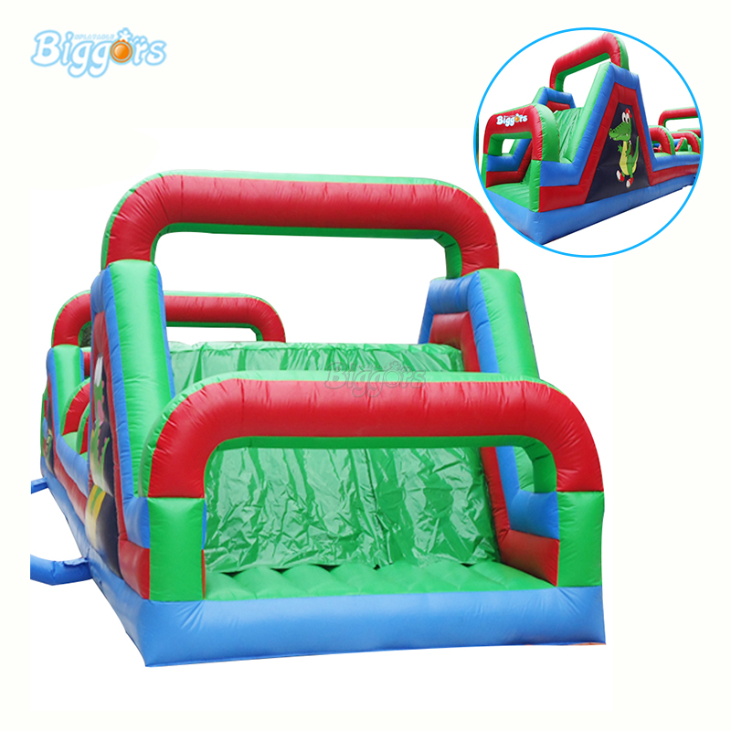 цена на Popular Interactive Game 0.55mm PVC Durable Inflatable Jump Bounce House Obstacle Course For Sale