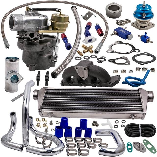 K04-015 Turbo Kit + Intercooler for Audi A4 1.8T VW l4 GAS DOHC 1997-2004