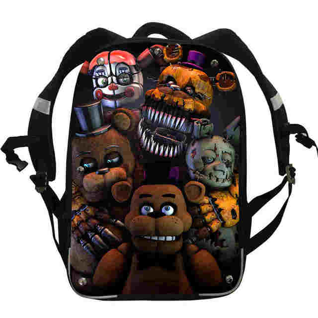 ebd9c899aa53 FNAF Anime Backpacks Animal Wolf Galaxy UT Freddy Chica Foxy Boys Girls  Teenager School Bags Mochila Box Lunch Pencil Case-in Backpacks from  Luggage   Bags ...