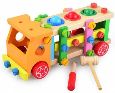 Boys Toys for Children Tool Sets Geometric Shape Elephant Disassembly Tool Table Wooden Educational Assemble Building Blocks delivery is free children s makeup geometric building blocks montessori teaching aids 8 sets wooden toys educational toys