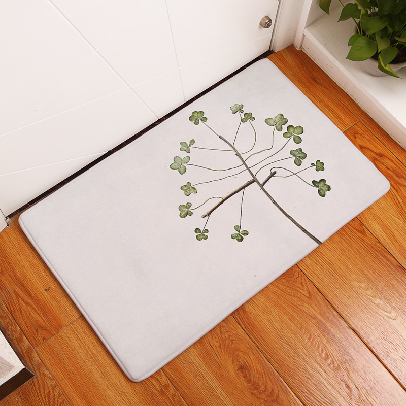New Anti-Slip Carpets Beautiful Flower Print Mats Bathroom Floor Kitchen Rugs 40x60or50x80cm