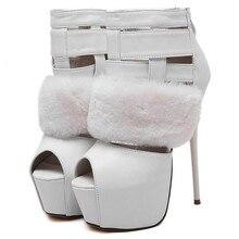 2016 new brand women pumps sexy 5.5cm platform 16.5 cm super high heels Peep Toe pumps wedding shoes plus size 34-40