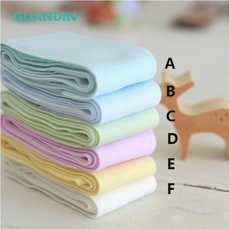 GUANDIN,Elastic Solid Color Cotton Fabric,1Yard,Wrap Strip Edge Material For DIY/Cotton Binding,Baby Jumpers,Bodysuit,Cloth,4cm
