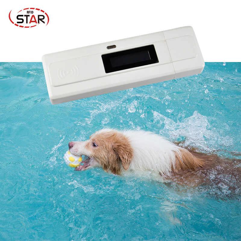 LF zwierząt czytnik rfid ISO11784/5 FDX-B szkło Tag czytnik pies Chip skaner 134.2KHz gorąca sprzedaż dla pet Tracking tagi