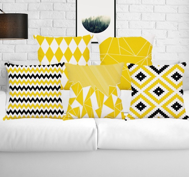 Arrow Wave Geometry Pillow Cases Home Decoration Emoji Kid Throw