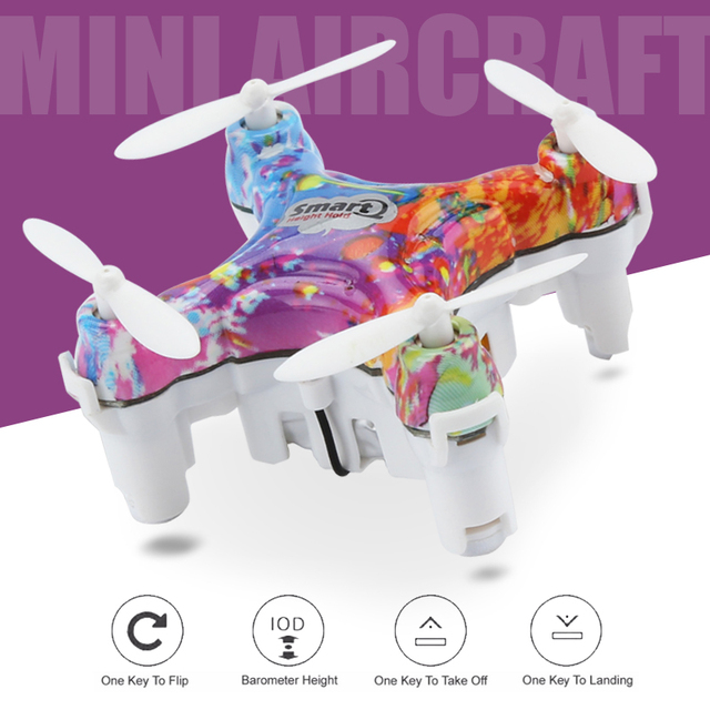 Mini RC Drone 4CH Drones CX10D 6-Axis LED RC Helicopter 3D Roll Mini Drone With A Key Mode Controller OR CX-10DS Wifi Control