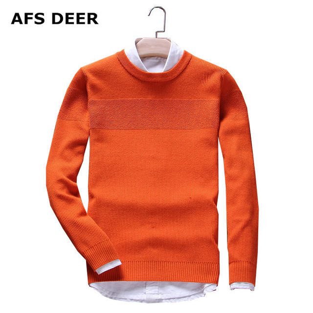 Brands knitting sweater Men's Pullover Wool Sweater O-Neck Cotton nylon Jumpers  2016 new  causal  solid  simple male  sweater