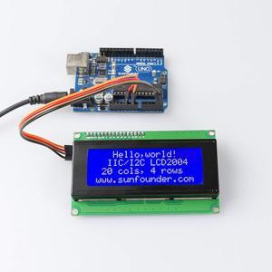 Image 2 - SunFounder IIC/I2C/TWI 2004/20x4 Modulo LCD Shield per Arduino Uno/Mega2560 elettronica FAI DA TE