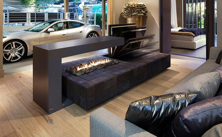 48 Inch Real Fire Ethanol Fuel Intelligent Smart Indoor Fireplace Inserts