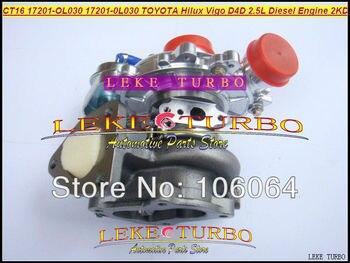 Libera La Nave Turbo CT16 17201-OL030 17201 OL030 17201-0L030 Turbocompressore Per TOYOTA Hilux Vigo Hi-lux D4D 2KD 2KD-FTV 2 KDFTV 2.5L D