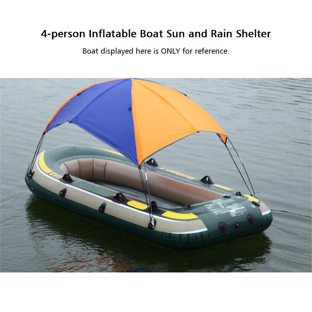 Kayak de bateau gonflable accessoires pêche ombre de soleil canopée de pluie Kit Kayak voilier auvent couverture supérieure 4 personnes abri bateau