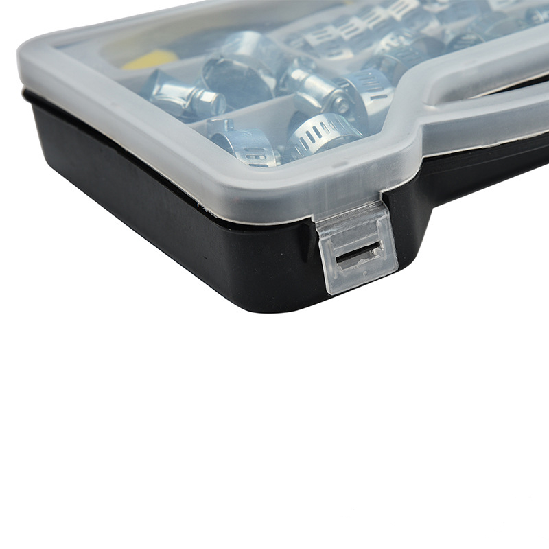 Купить с кэшбэком 50PCS Steel Hex Driver Tool Hose Clamp Assortment Worm Drive Kit 6 Sizes Pipe Clamp