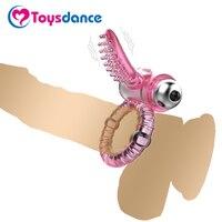 Baile Flexible Penis Ring Mit Weichen Stimulation Der Klitoris Zunge 10 Speed Kugel Vibrator Zeit Verzögerung Cock Ring Erotische Sex Spielzeug-in Penisringe aus Haar & Kosmetik bei